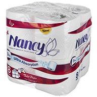 دستمال توالت 8 رول 3 لایه نانسی