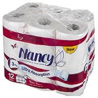 دستمال توالت ۱۲ رول ۳ لایه نانسی