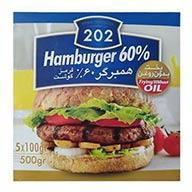 همبرگر  %60 گوشت  202