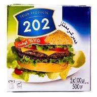 همبرگر  %75 گوشت  202
