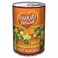 کنسرو مخلوط سبزیجات دلوسه