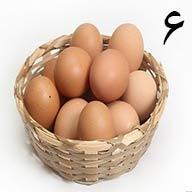 تخم مرغ محلی ۶ عددی طلقی