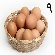 تخم مرغ محلی ۹ عددی طلقی
