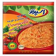 سوپ ورمشیل و گوجه اسپرتو
