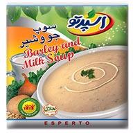 سوپ جو و شیر اسپرتو