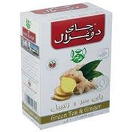 چای سبز و زنجبیل دوغزال