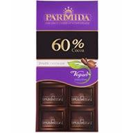شکلات تخته ای تلخ 60 %  پارمیدا