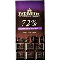 شکلات تخته ای تلخ  72 %  پارمیدا